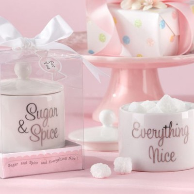 Sugar, Spice And Everything Nice Ceramic Sugar Bowl. Baby Shower ...