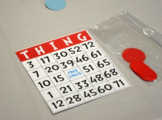 thing 1 thing 2 bingo game labelled thing