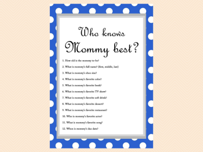 Game Who Knows Mommy Best Baby Shower Ideas Themes Games