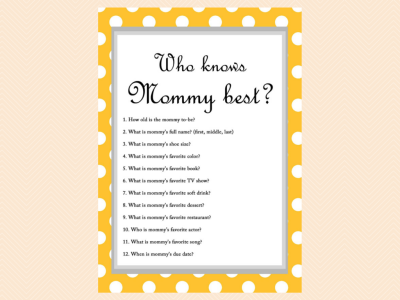 Wonderful ... Free Baby Shower Game   Who Knows Mommy Best ...