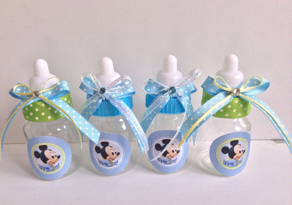 Baby Mickey Mouse Baby Shower Favors Mickey Mouse Baby Bottles