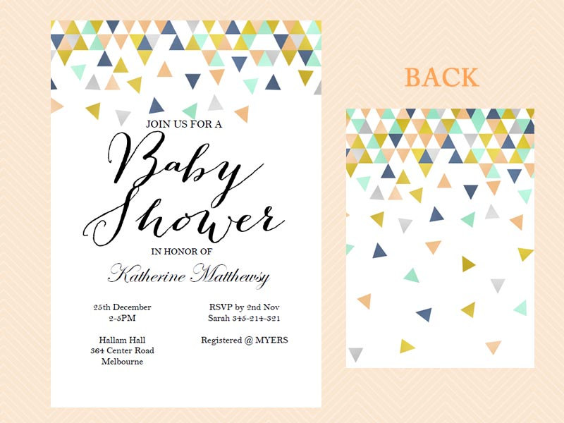 modern baby shower invitation   invitation cards, Baby shower