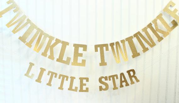 twinkle twinkle little star baby shower christmas decor gold glitter