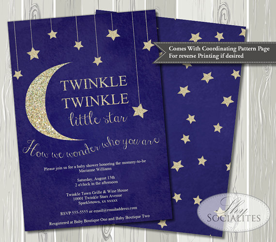 twinkle twinkle little star baby shower invitation baby shower ideas