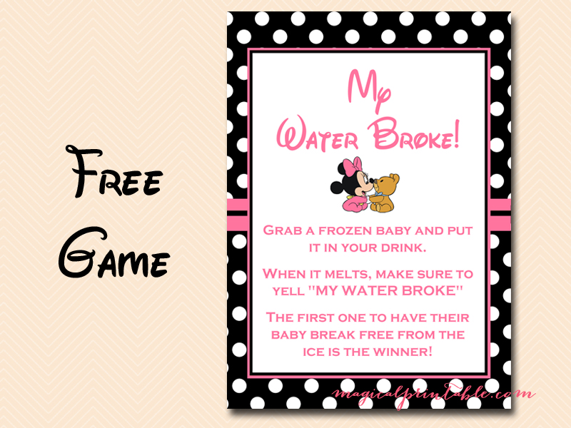 baby shower games my water broke baby shower ideas themes games