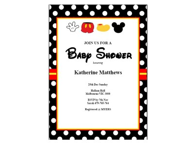 Mickey mouse baby shower ideas baby shower ideas themes games mickey mouse baby shower invitations filmwisefo