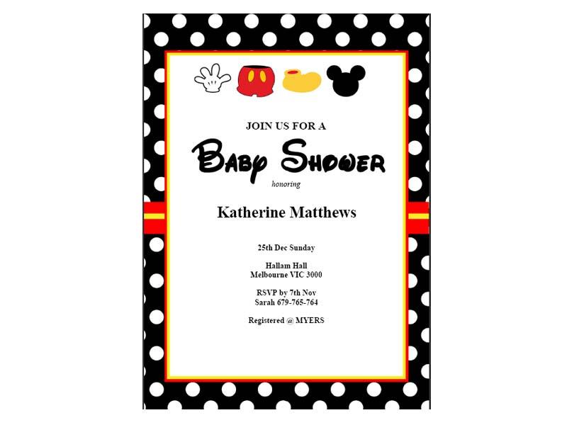 mickey mouse baby shower invitations baby shower ideas themes