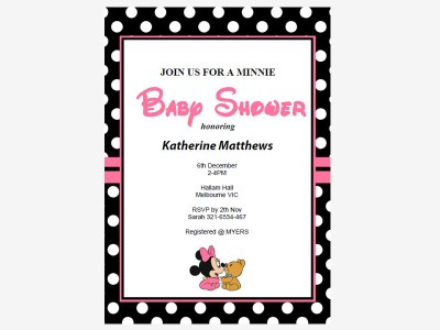 Minnie Mouse Baby Shower Baby Shower Ideas Themes Games