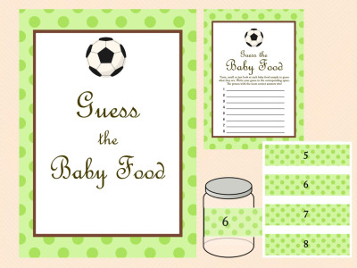 Baby Food Game, Baby Food Jar Labels, Baby Food Sign, Green Baby Shower