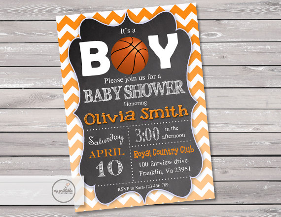 Basketball Baby Shower Invitation