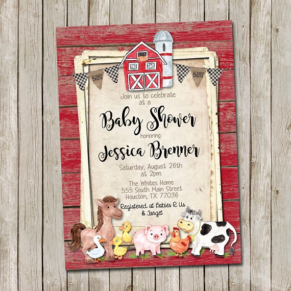 Farm Animals Baby Shower Ideas Baby Shower Ideas Themes Games