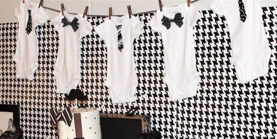 Lovely ... Little Gentleman Baby Shower Onesies Banner ...