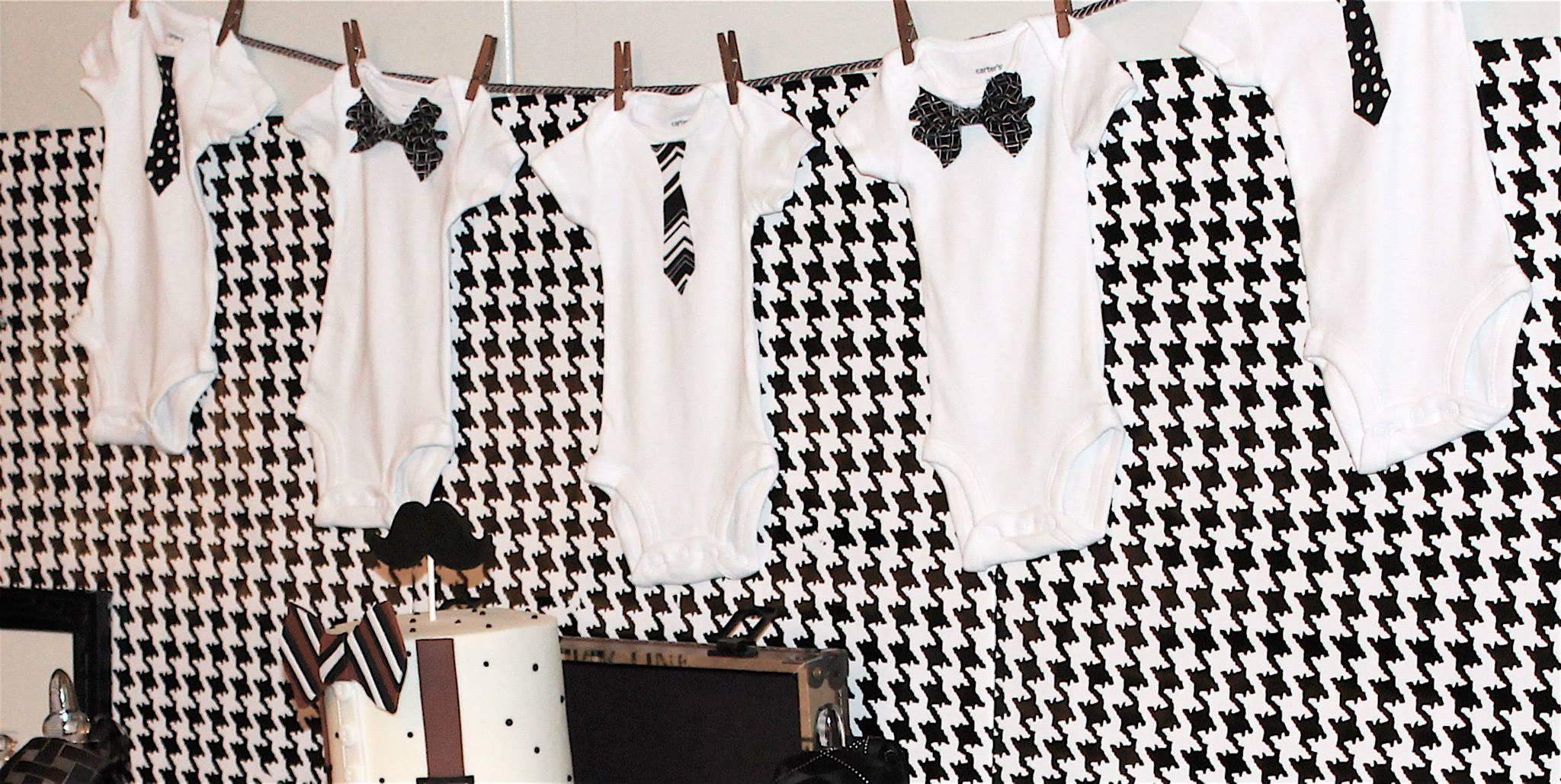 Little Gentleman Baby Shower Onesies Banner Baby Shower Ideas
