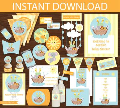 Noahs Ark Baby Shower Printable Kit