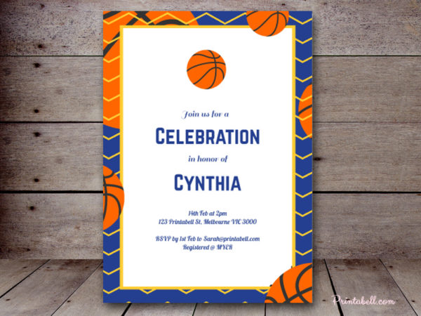 Basketball Baby Shower Decors