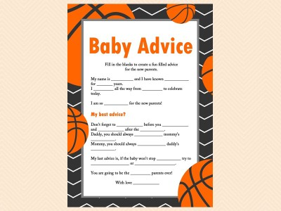 Basketball Baby Shower Favors U0026 Games