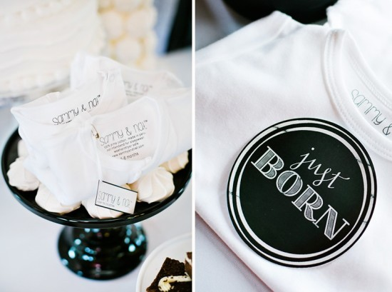 ... Black And White Baby Shower First Birthday Ideas ...