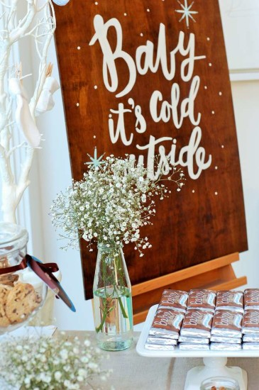 Baby It's Cold Outside Baby Shower decoration ideas