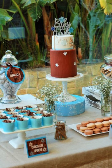 Baby It's Cold Outside Baby Shower dessert table