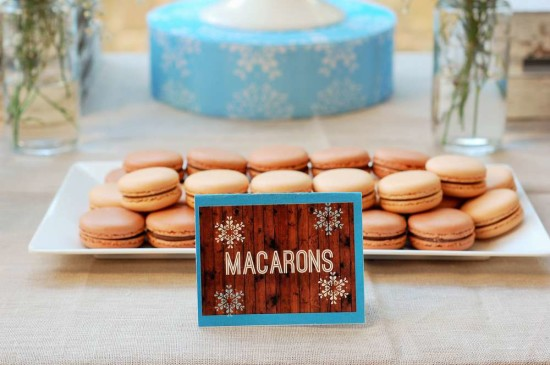 Baby It's Cold Outside Baby Shower food macarons