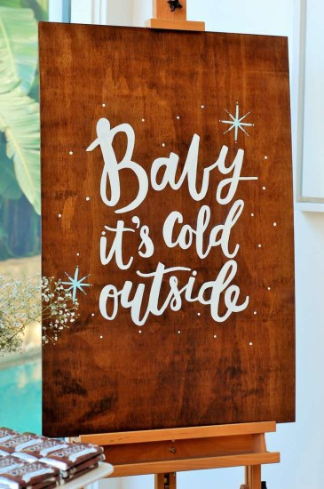 Baby It's Cold Outside Baby Shower signage