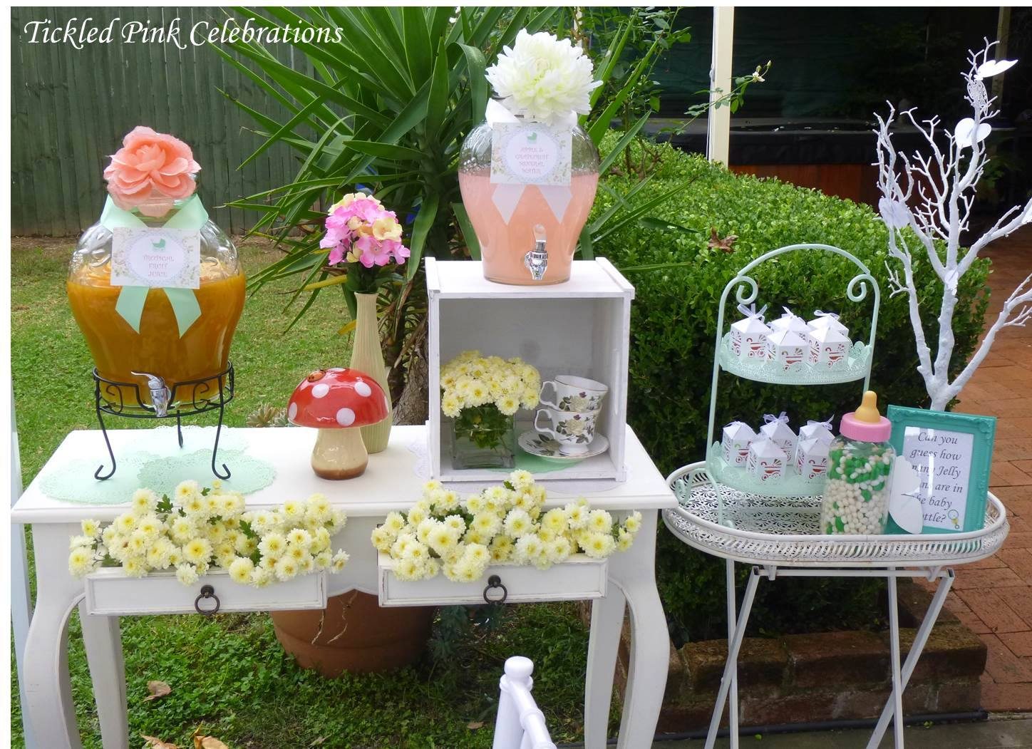 Garden baby shower decor - Enchanted Garden Baby Shower Decoration Ideas