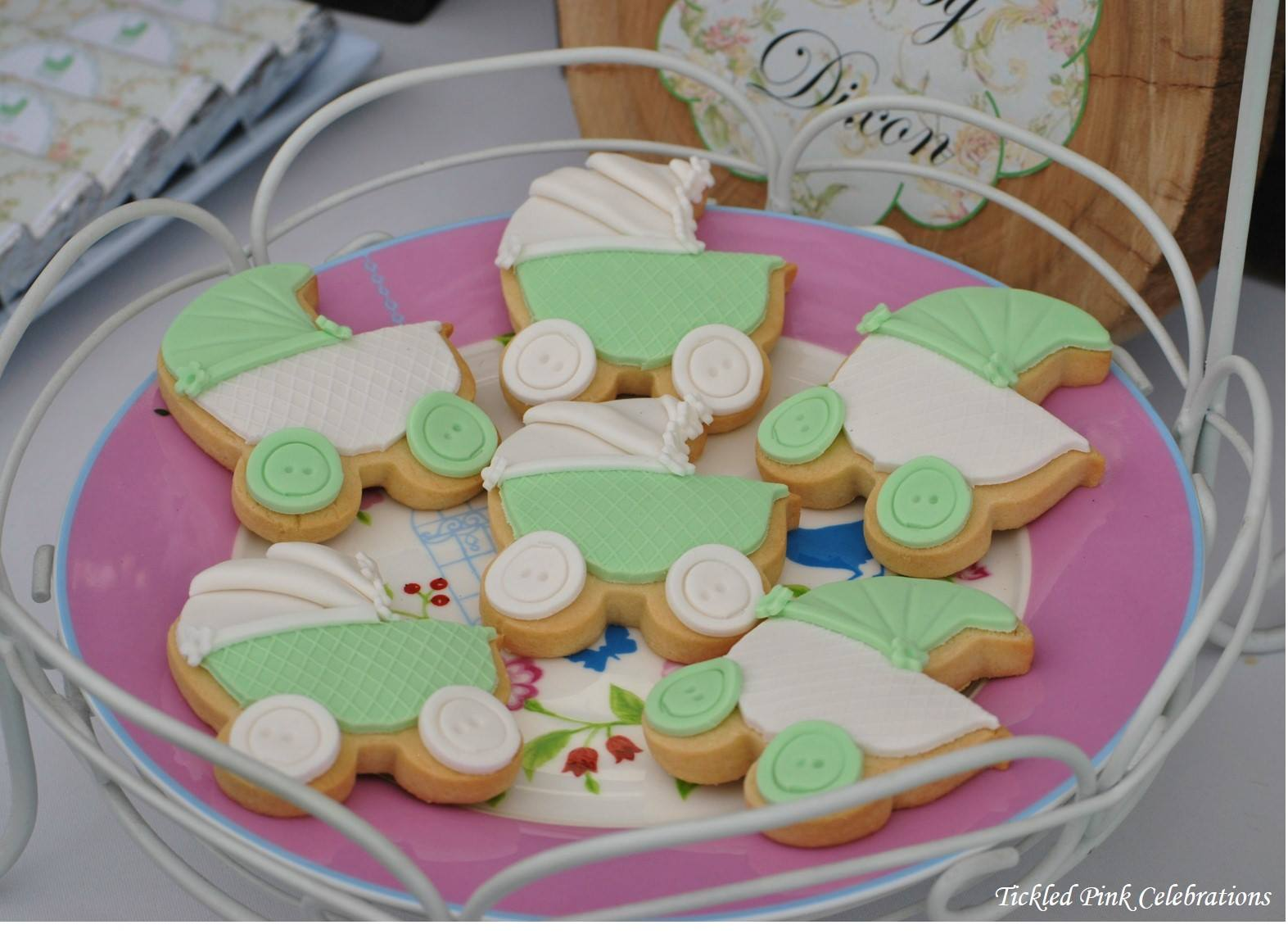Enchanted Garden Baby Shower Gender Neutral Cookies Baby Stroller