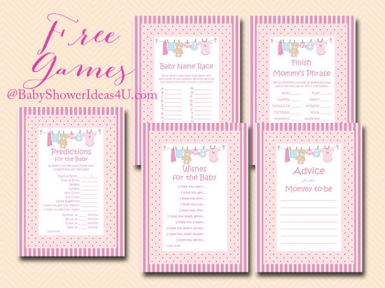 Free Baby Shower Games For Girls