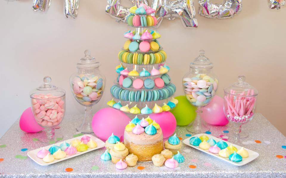 Oh Baby Colorful Baby Shower Decorations, Gender Neutral, Sweet Dessert  Table, Macaroons Centerpiece