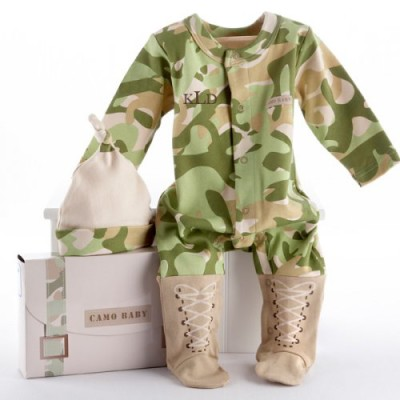 Camo baby shower ideas baby shower ideas themes games baby camo personalized layette gift set baby boy negle Images