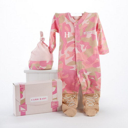 Baby Gift Sets Ideas : Baby camo personalized layette gift set girl