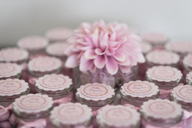 ... Pink And Gold Butterfly Baby Shower Favors, Candy In Jar Displayed  Beautifully ...