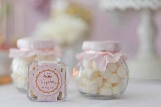 ... Pink And Gold Butterfly Baby Shower Favors, Candy In Jars ...