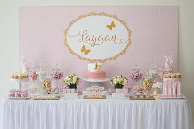 Lovely Pink And Gold Butterfly Baby Shower Ideas ...