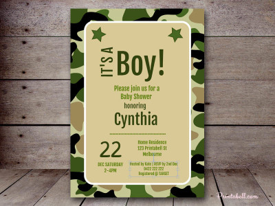 Camo baby shower ideas baby shower ideas themes games pink camo baby shower invitation bdpdesigns filmwisefo