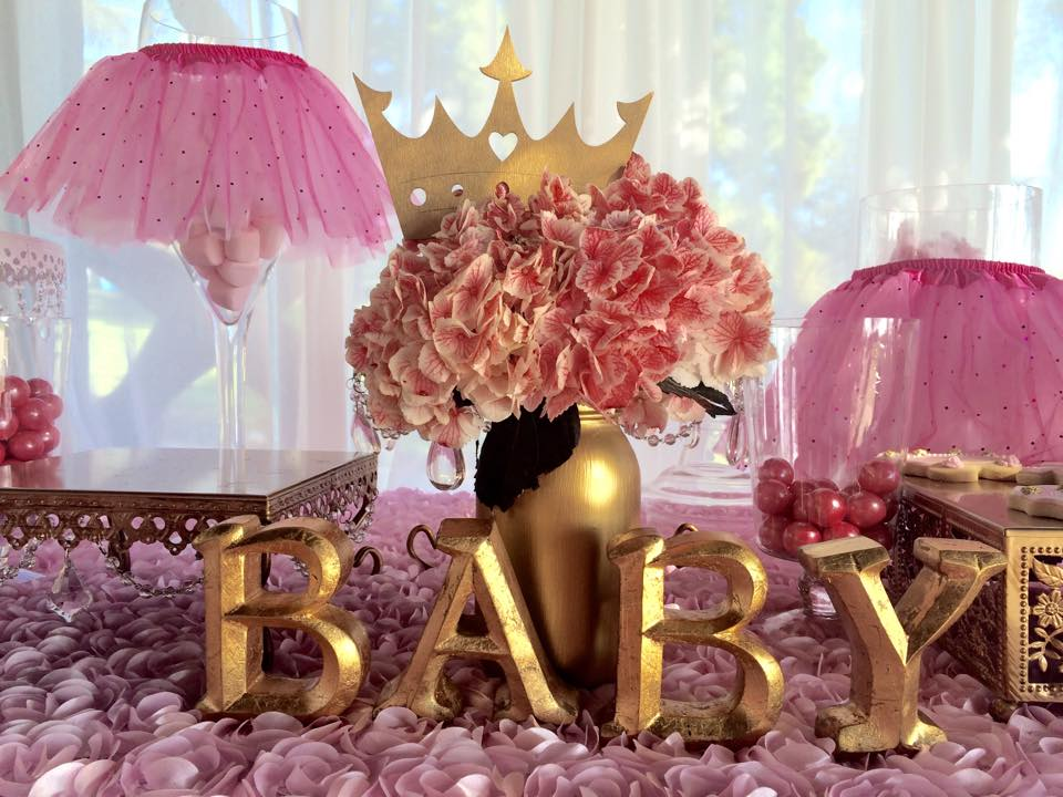 Baby Shower Ideas In Pink And Gold tutu and tiara baby shower - baby shower ideas - themes - games