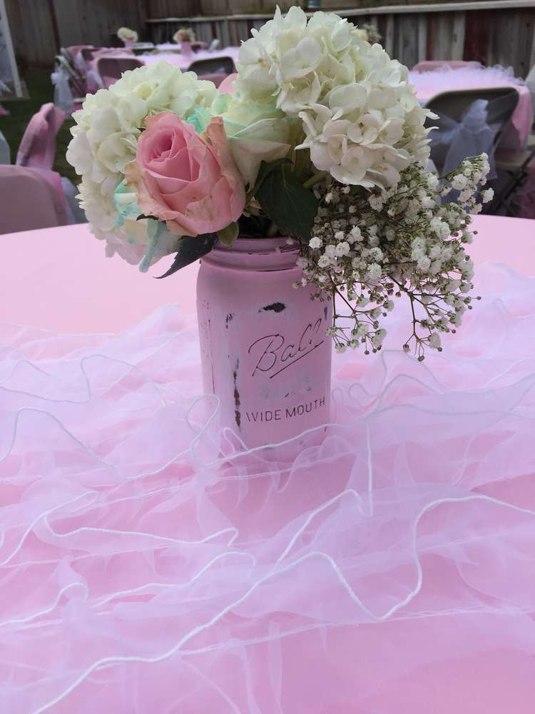 Elegant shabby chic baby shower ideas