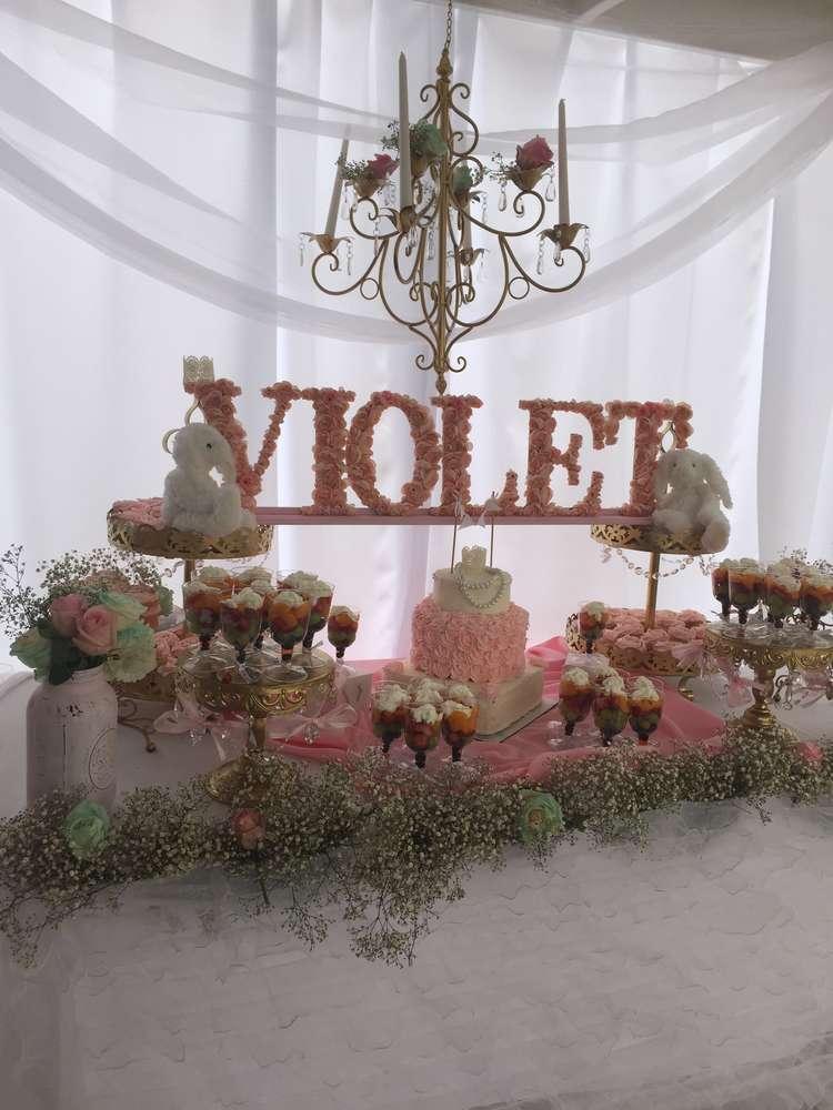 ... Elegant Shabby Chic Baby Shower, Violet, ...