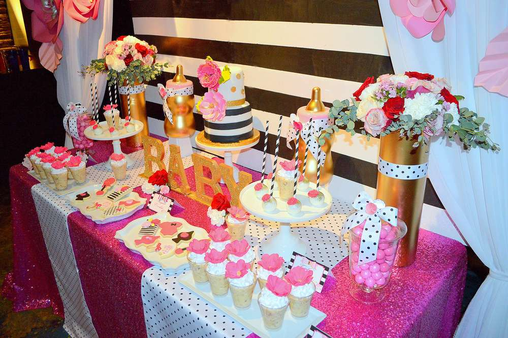 Kate Spade Inspired Baby Shower - Baby Shower Ideas - Themes - Games