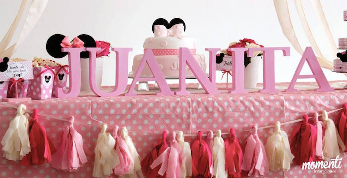 Pink minnie mouse baby shower baby shower ideas themes for Baby minnie mouse decoration ideas