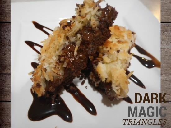 dark magic trianges recipe, for baby shower desserts, bridal shower desserts, party desserts