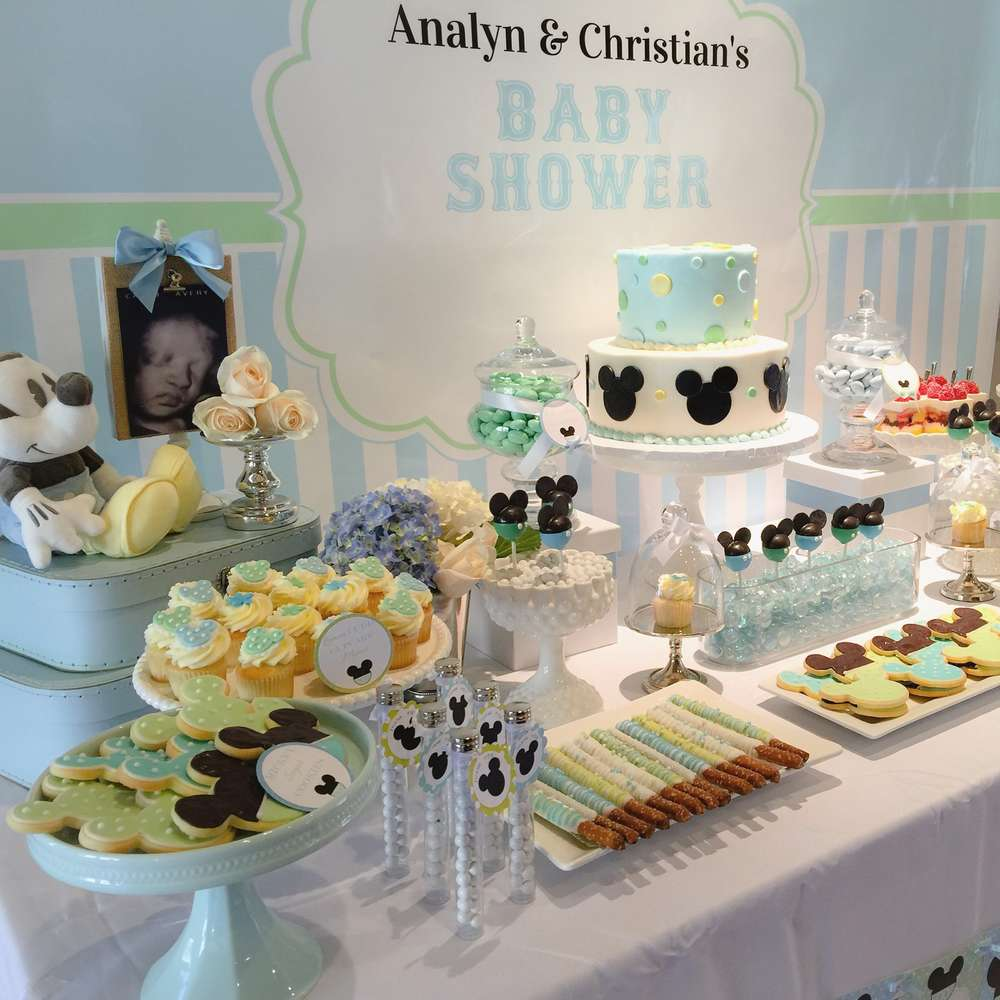 Baby Mickey Mouse Baby Shower Dessert Table Baby Shower Ideas