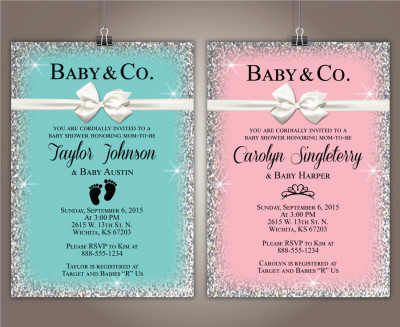 tiffany and co baby shower invitations quotes