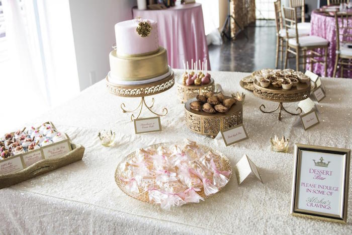 Royal Pink And Gold Baby Shower Baby Shower Ideas
