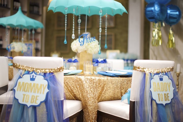 royal prince baby shower co ed baby shower guest table