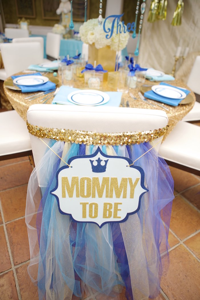 Royal prince baby shower mommy to be chair baby shower for A new little prince baby shower decoration kit