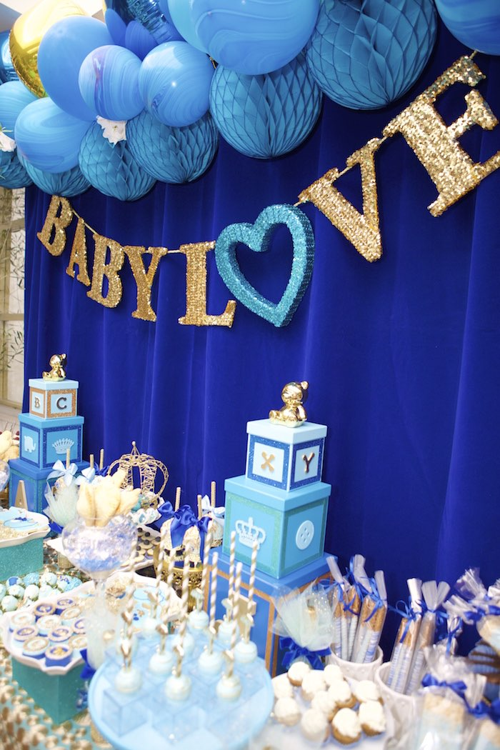 royal blue baby shower theme baby love royal baby shower baby shower