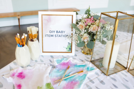 Sprinkle Baby Shower baby item station