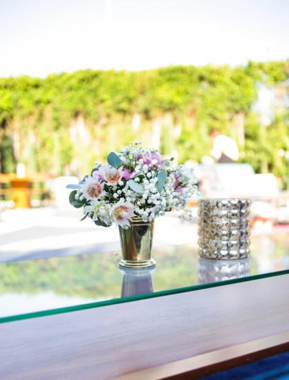 Sprinkle Baby Shower floral centerpiece decoration