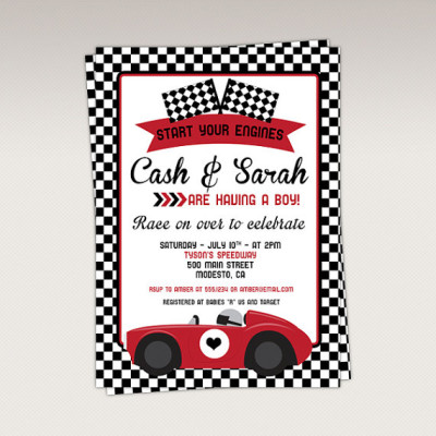 Racing Baby Shower Ideas - Baby Shower Ideas - Themes - Games